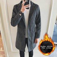 Men's Trench Coats Nice Autumn Japanese Snowflake Men Large Size 5XL Slim Jacket Long Coat With Cotton