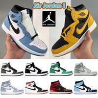 Universidad Azul Air Jordan 1 1S Zapatos de baloncesto Top 3 Sombra 2.0 Hyper Royal Dark Mocha Patente Criado Electro Orange UNC Hombres Mujeres Zapatillas de deporte