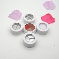 New26.6mm Svuota la scatola di custodia in polvere e ombretto bianco vuoto con tappo a vite, trucco di bellezza Blusher sub contenitore rossetto compatto fwd8636