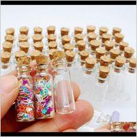 Gläser 10 stücke Mini Glas Klar Drifting Weihnachten Kleine Wishing Flaschen mit Korkstopfen für Hochzeit Geburtstag Jllaaa A2WQB RON1J