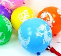 Dinosaur Printed Latex Balloon 12 inch Colorful Balloons Party Favors Baby Shower Decorations Birthday Party Supplies Kid Toys Gifts FWA5268