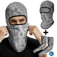 Cycling Caps & Masks Ski Balaclava Riding Full Face Mask CS Wargame Scarf Buff Breathable Hunting Neck Warmer Multicam Tactical Headband Arm