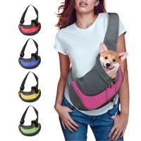 Pet Puppy Carrier Outdoor Travel Dog Shoulder Bag Mesh Oxford Single Comfort Sling Handbag Tote Pouch