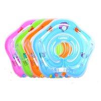 Acessórios de bebê de natação Pescoço anel de pescoço de segurança infantil flutuador círculo para banhos de banho inflável vida veste bóia
