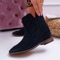 Stivali Donna Vintage Boots Scarpe tacco basso Quattro stagioni spesse caviglia casual scarpe invernali caldo neve botas mujer l6nh #