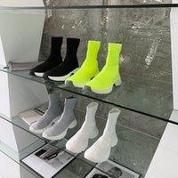 2021 más nuevos hombres mujeres zapatos casuales velocidad 3.0 Balencaiga entrenador plataforma de calcetín botas calcetines entrenadores para hombre zapatillas de zapatillas de zapatillas blancas negras