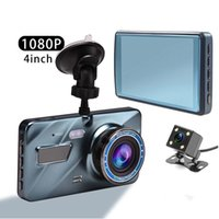 2.5D Coche DVR grabadora de videos cámara DASH Cámara 1080P Vista posterior Lente dual de 4 pulgadas Full HD G Sensor Ciclo portátil Recording Dash Cam Dashcam