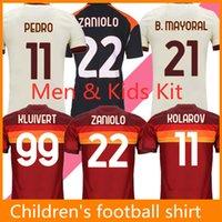 كرة القدم الفانيلة StroTman Roma de Rossi Dzeko Zaniolo Kalinic Totti Perotti Pedro 20 21 قميص كرة القدم Pellegrin