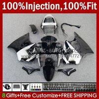 OEM Silvery Black Blk Blk Flows для Kawasaki Ninja ZZR60000C 600CC Body 100% Fit 600 CC 05-08 Кузов 38HC.148 ZZR 600 05 06 07 08 ZZR-600 2005 2006 2007 2008 Full Action