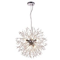 Modern Crystal Chandeliers Firework LED Wrought Iron Chandelier Pendant Lighting Lamp Ceiling Light Fixtures For Dining Room Lamps