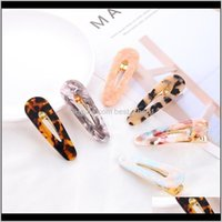 Accessories 14 Colors Ins Acrylic Clip For Girls Women Leopard Marble Floral Textured Geometric Duckbill Barrette Hairpin Hair Zgoat Dgxuo