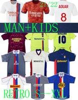 21 22 Olympique Lyonnais Lyon Retro Soccer Jerseys Kids 2021 Aouar Player Version Man + Kids 00 01 02 08 09 10 11 Gourcuff Toulalan Juninho Maillot De Football De