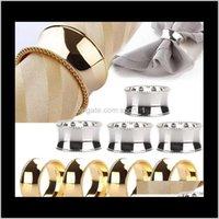 Bagues Titulaires de serviettes en métal pour les dîners Fêtes El Wedding Table Decoration Fournitures Diamètre 45cm HA6UM LX1VK