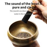 12 cm Design Design Arti religiose e artigianato Nepal Chakra Yoga Ciotola di canto Boddidhism Brass Blass Ciotole tibetano