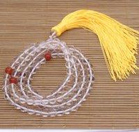 "8mm Round Natural Crystal Buddhism Prayer 108 Beads Bracelet 32"" LONG Beaded, Strands"