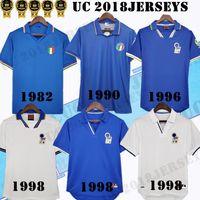 1982 1990 1996 1996 1997 1994, Italien Retro Fussball Trikots Maldini Rossito Nesta Albertini Baggio R. del Piero Torricelli 82 90 96 98 94 Classic Football Shirt