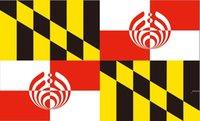 Мэриленд БассНекционный флаг 3FT на 5FT 100D полиэстер декоративные флаги и баннеры FWD6558