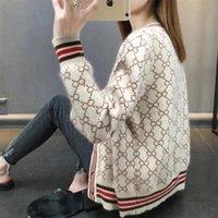 Womens Winter Cardigan Pullover Wolle Mischbluse Frauen Strickwaren Frauen Pullover V-Ausschnitt Strickjacke Kausale Kleidung Perlen S-4XL