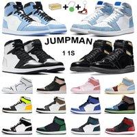air jordan retro 1 high og basketball shoes jumpman 1s Chicago Black Volt Gold Bio Hack 남성 여성 트레이너 아웃 도어 스포츠 스니커즈