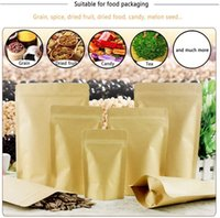 Degradable kraft paper bag stand up pouch Inner VMPET for kinds of food packaging