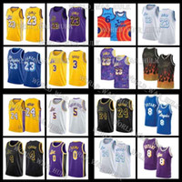 24 8 33 Bryant Maillots de Jerseys Los Lebron 6 James Angeles 23 Tune Squad Anthony 3 Davis Kyle 0 Kuzma Movie Space Space Bombe Merion LBJ MVP 2021 Hommes Basketball Noir Mamba