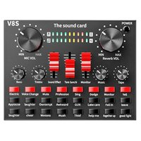 Sound Cards Card V8S Audio Mixer Bluetooth Webcast Personal Entertainment Streamer Live Broadcast For PC Computer