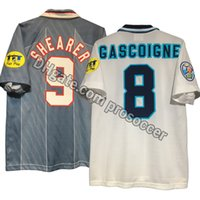 Shirt retrò 1995-1997 England del pullover di calcio Beckham Shearer Gascoigne Scholes Owen Fowler McManaman Redknapp Vintage Kit Classic
