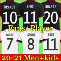 Германия 2021 Футбол Джерси Дом Hummels Kroos Draxler Reus Muller Pogze European Cup Кубок Футбольные Рубашки Униформа Мужчины + Дети