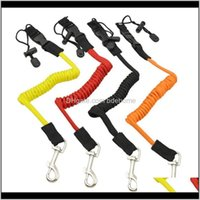 Rafts Inflatable Boats Paddling Water Sports & Outdoors Drop Delivery 2021 Surfboard Surfing Coiled Lanyard Cord Tie Rope Rowing Boat Elastic