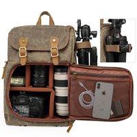 Backpack Large Capacity Front Open Waterproof SLR Camera Canvas Rucksack Travel Bag DSLR