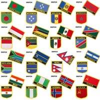 방글라데시 미크로네시아 몰도바 모로코 국기 의류에 대한 패치에 수 놓은 철분 금속 배지 DIY 패치 톱