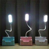 팬 터치와 충전식 LED 테이블 램프 Dimmable 데스크 램프 눈 보호 전화가 펜 홀더와 아이에 대 한 빛을 읽고