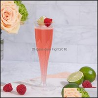 Kitchen Kitchen, Dining Bar Home & Garden100Pcs Plastic Champagne Flutes Disposable Clear Cups Toasting Glasses Wedding Baby Shower Party Su