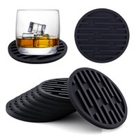 Round Silicone Mat Coaster Drain Pad 10CM Non-slip Rubber Heat Resistant Insulation Placemat Cup Pad Table Accessories