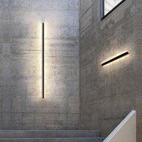 Minimalist yaratıcı uzun duvar lambası modern led arka plan aydınlatma oturma odası başucu alüminyum