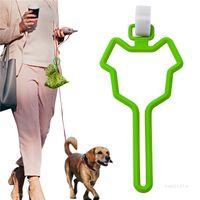 Dog Poop Bag Holder Waste Bag Carrier Pet Leash Dispenser Hands-Free Holder for Dog Poop Bags 7 Colors T500729