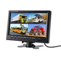 سيارة الرؤية الخلفية كاميرات وقوف السيارات مستشعرات 9 بوصة TFT LCD رباعية عرض مراقب حماية 4 طريقة اتصال عكس الفيديو