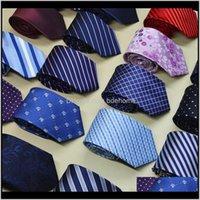 Pescoço Aessórios Drop entrega 2021 mens tipo marca homem moda ponto listrado gravatas hombre 8 cm Gravata Grande clássico clássico laço verde casual
