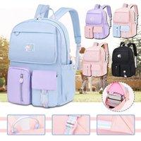 School Bags Korean Style Rainbow Shoulder Strap Backpacks For Teenagers Girls Fashion Children's Backpack Kids