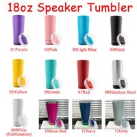 11 Colors 18oz Creative Wireless Music Tumblers Waterproof Stainless Steel Water Bottle Speakers Portable Sublimation Speaker tumbler
