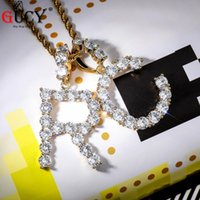 Pendant Necklaces GUCY Cubic Letter A-Z Chain Name 4mm Men's Women's Tennis Silver Color And Gold Hip-Hop Glamour Jewelry