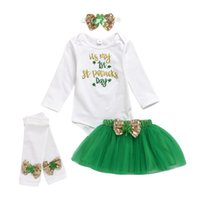 Baby Girl Clothing Set Bowknot Letter Print Long Sleeve Romp...