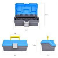 Caixa de ferramentas de grande capacidade caixa 3 camada de pesca tackle engrenagem Leo ABS isca isca de armazenamento para acessórios ao ar livre1