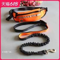 Pet supplies waist pack two piece pet running traction dog rope