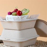 Кекс торт коробка бумаги упаковочная коробка одноразовый выпечки бургер десерт западный точечный рука подарочная коробка GWF7819