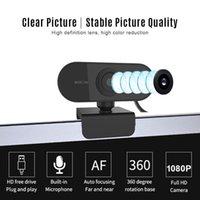 Webcams 20Pcs 1080P Webcam Web Camera Built-in Microphone Auto Focus 360° Rotation 2Mega Pixel USB Cameras For Laptop Desktop Conference