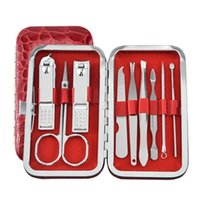 Nail Art Kits Manicure Tool Sets Nails Tools Clippers Scissors Dead Skin Push File Stainless Steel Pedicure Set