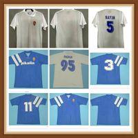 1995 Retro Real Zaragoza Nayim Soccer Jersey Aguado Poyet Pardeza Higuera Esnaider Vintage Camisa de Futebol Clássico