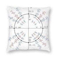 Cushion Decorative Pillow Unit Circle Mathematical Mathematics Throw Case Decoration Math Pre Calculus Cushion Cover 45x45cm Pillowcover For