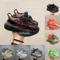 Yeesy Kids Sneaker Kanye West Kidning 신발 고품질 유아 소녀 소년 야외 걷는 조깅 농구 트레이너 Boost350 V2 디자이너 신발